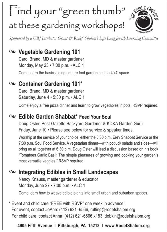 Edible Garden Workshops in Pittsburgh
